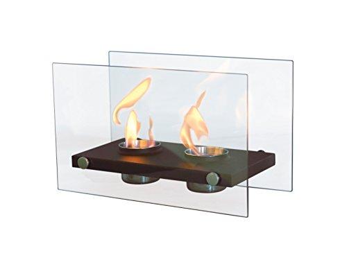 PURLINE ONIROS DUO - Tischkamin ethanol mit doppelter Flamme und gehärtetem Glas